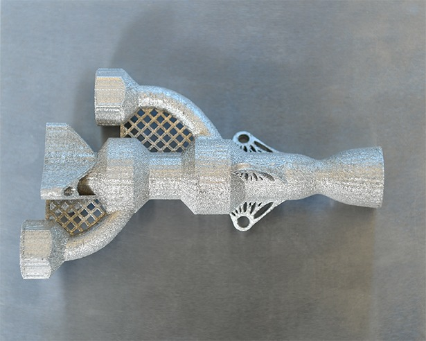 Metal Object printed by an Xact Metal printer